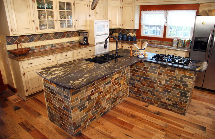 Slate & Copper Kitchen ? Wolf Custom Tile and Design