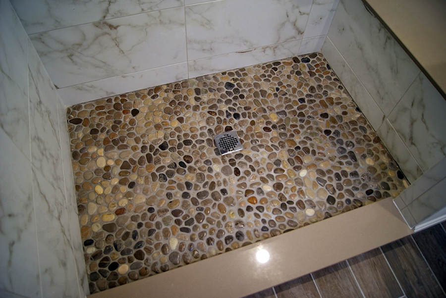 Michigan Pebbles Marble Surround Wolf Custom Tile And